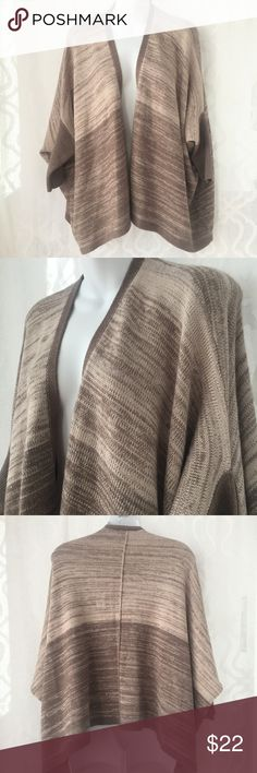 Calvin Klein Tan Brown Wool Batwing Open Cardigan Length: 23 in |  Great condition! Please ask if you have any questions :)                                                      #cozy comfy soft cute casual Calvin Klein Sweaters Cardigans