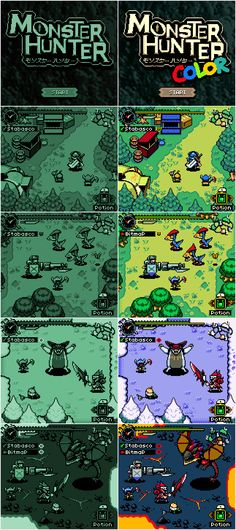 Monster Hunter Color Pixel Artist: army of trolls Source: armyoftrolls.co.uk