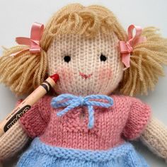 Knitted dolly childr