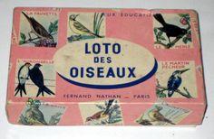 Vintage (1970s) French Bird Lotto Game - Loto des Oiseaux