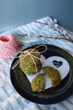 Schokoladige Matcha-Kekse