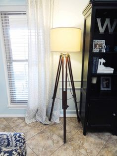 The Repurposed $91 DIY Version of a $1400 Restoration Hardware Tripod Lamp