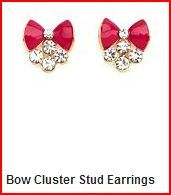 Bow Cluster Stud Earrings $6.00 Charlotte Russe