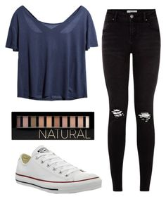 """Hanging out with friends outfit"" by tumblr-insta-styles ❤ liked on Polyvore featuring Forever 21 and Converse"