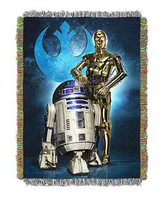 Loving this Star Wars Droid Blues Tapestry Throw on #zulily! #zulilyfinds