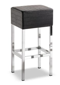 """""""Cube Stitch Hi""""  Lightweight, simple and comfortable thanks to the small dimensions and attractive design it is ideal for small spaces. With the square steel tube frame it is available in satinized steel or chrome finish.  Please contact us for pricing (718)363-3097."""