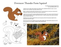 A little red squirrel to make from felt.