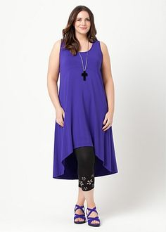 Big Sizes Womens Clothing | Clothes for Larger Size Women - KORE HI LO DRESS - TS14
