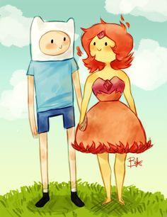 Adventure Time - Finn & Flame Princess - Fanart (Finn And Flame Princess by Hyperactive-Kitteh on DeviantArt)