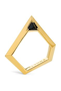 Elyona Pentagonal Ring with Swarovski, $230.82, available at Wolf & Badger.  33 Quirky Engagement Rings For Alt Brides #refinery29