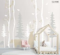 card making for kids Woodland Birch Tree Animals Wall Decal Nursery Forest Baby Room Decals Bear Scandi Wall Art Kids Custom Wall Sticker Decor Forest Baby Rooms, Forest Nursery, Woodland Nursery, Baby Room Decals, Tree Decal Nursery, Nursery Trees, Baby Room Wall Decor, Baby Wall Art, Kids Wall Decals