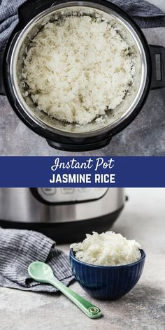 Instant Pot Jasmine Rice is fluffy, perfect, and so easy to make. You don't … – Rice Recipes Instant Pot Jasmine Rice is fluffy, perfect, and so easy to make. Instant Pot Jasmine Rice Recipe, Jasmine Rice Recipes, Cooking Jasmine Rice, Instant Pot Dinner Recipes, Crockpot Recipes, Cooking Recipes, Healthy Recipes, Food52 Recipes, Vegetarian Recipes