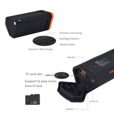 Amazon.com: Kmashi Waterproof Bluetooth Speakers, Portable Bicycle Wireless Speaker including 4800mAh External Battery and LED Flashlight Bike Mount, Outdoor Rugged Speaker for iPhone 6s and more: MP3 Players & Accessories