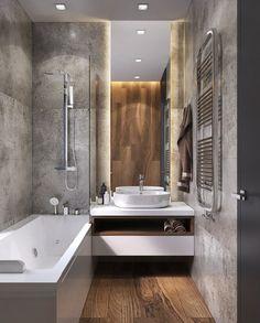 New kitchen apartment design bathroom 34 Ideas Bathroom Layout, Modern Bathroom Design, Bathroom Interior Design, Small Bathroom, Bath Design, Master Bathroom, Design Design, Bad Inspiration, Bathroom Inspiration