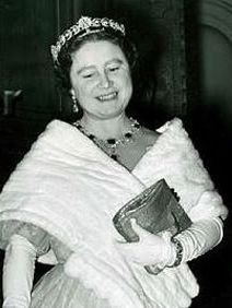The Teck Crescent Tiara; Worn by Queen Elizabeth (The Queen Mother).