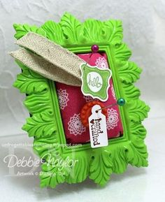 3-D swaps from my team for April 2013, My pin cushions! Stampin' Up! fabric and stamps/punches