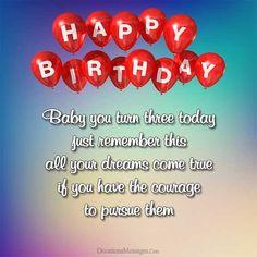 Happy 3rd Birthday Wishes Image