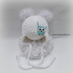 Usanka Dolphin in pro začátečníky - Crochet Beanie with ear flaps for be. Crochet Baby Mittens, Crochet Baby Beanie, Free Crochet, Knit Crochet, Crochet Hats, Beanie With Ears, Baby Dolphins, Ear Hats, Crochet Projects