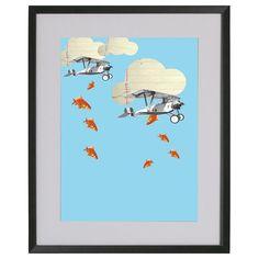 Lamina collage Fish! de Poppy Girl Illustrations por DaWanda.com