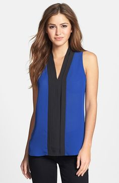 Bellatrix Keyhole Back Colorblock Top (Regular & Petite) available at #Nordstrom