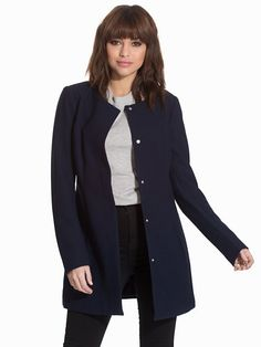 Nelly.com: jdyBRIGHTON COAT OTW - Jacqueline de Yong - women - Dark Blue. New clothes, make - up and accessories every day. Over 800 brands. Unlimited variety.
