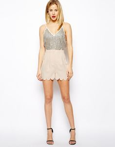 ASOS Soft Shorts With Scallop Hem