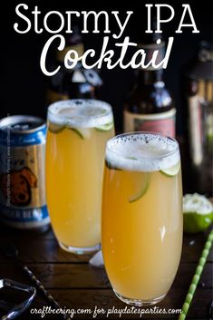 Meet the Stormy IPA cocktail. Inspired by a classic dark rum and America's favorite beer style - the India Pale Ale, this craft beer cocktail can also be seen as a fortified version of a shandy. Dark Rum Cocktails, Classic Cocktails, Beer Cocktail Recipes, Beer Recipes, Party Recipes, Drink Recipes, Spicy Bite, Frozen Drinks, Ginger Beer