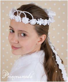 Nr.049 Ein Haarkranz zum Verlieben! - Princessmoda - Alles für Taufe Kommunion und festliche Anlässe