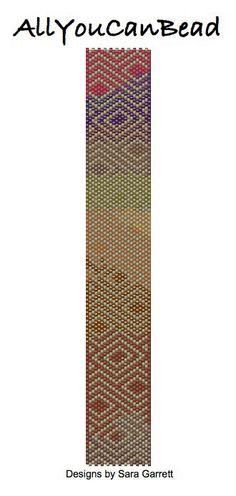 Peyote Cuff Bracelet Pattern by AllYouCanBead on Etsy, $4.95