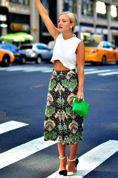culottes + a crop. #KateFoley knows what's what. NYC.