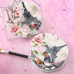 Pretty Paris Themed Mirror Compact Favor ~ Party Favors /& Gifts