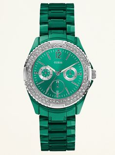 Green Guess watch #holidaygifting