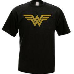 Wonder Woman Superhero Black T-Shirt All Size