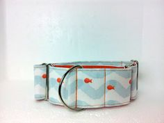 Under the Sea Dog Collar Martingale Buckle or Tag by dogsbythebay, $19.99