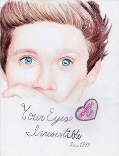 Drawing of Niall Horan