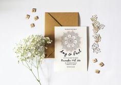 Digitalen Boho Mandala-Hochzeitseinladung in von MagentaDesigns
