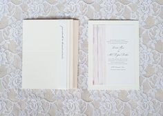 modern seersucker #wedding invitation inspiration