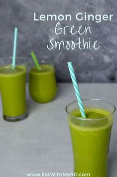If you're looking for quick, healthy breakfast options, healthy smoothie recipes can be a great fit. Try out our lemon ginger green smoothie refresher for a naturally spicy/sweet combo to start your morning right! Check out the recipe and follow us here for more vegan, vegetarian, and plant based recipes.