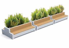 Public bench with integrated planter LOVE Streetlife   Garden ...