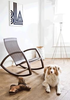 modern rocking chair//