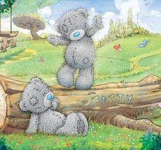 Florynda del Sol ღ☀¨✿ ¸.ღ Anche gli Orsetti hanno un'anima…♥ Tatty Teddy, Blue Nose Friends, Cute Friends, Nici Teddy, Cute Images, Cute Pictures, Teddy Bear Quotes, Teddy Beer, Teddy Bear Pictures