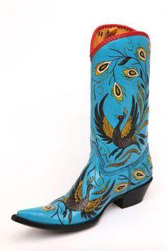 El Ave Bailador, Cock of the Walk boots Custom Cowboy Boots, Cowboy Boots Women, Cowboy And Cowgirl, Cowgirl Style, Cowgirl Boots, Western Boots, Punk Mohawk, Boot City, Cow Girl