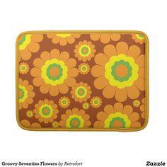 Groovy Seventies Flowers MacBook Pro Sleeve