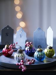 Ten Coloured Name Place Baubles