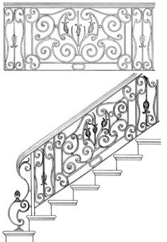 Stair Railing Designs - ISR008