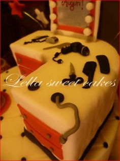 Barber cake - by LellaSweetCakes @ CakesDecor.com - cake decorating website