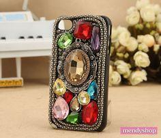 Multicolour gem iPhone cases bling iPhone cases by Mendyshop, $28.99