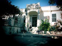 Cuba ~ Jane LaFazio on the steps of Hemingway House