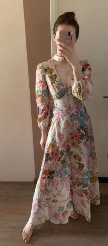 0f2ba86e509 Details about ZIMMERMANN HEATHERS PLUNGE LONG DRESS in 2019 ...