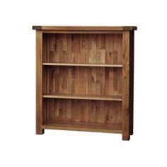 Rustic Solid Oak SRDK20 3FT Bookcase  www.easyfurn.co.uk Low Wide Bookcase, Slim Bookcase, Etagere Bookcase, Home Office Uk, Corner Display Unit, Oak Color, Colour, Homestead Living, Hazelwood Home